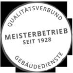 Qualitätssiegel Meisterbetrieb rohe Gebäudereinigung  seit 1928